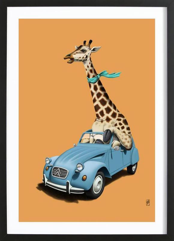 Riding high (colored) -Bild mit Holzrahmen