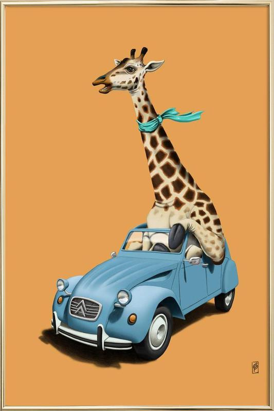 Riding high (colored) poster in aluminium lijst