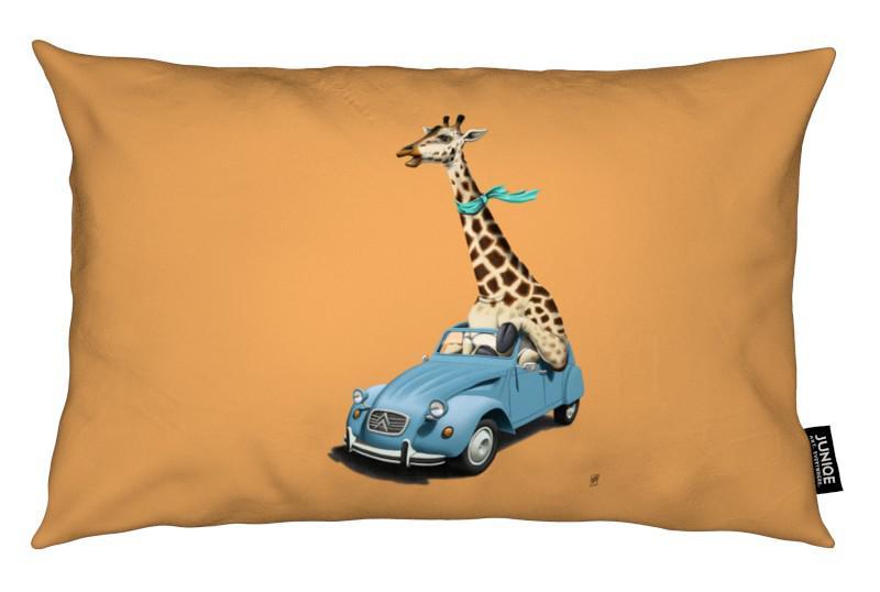 Giraffes, Riding high (colored)