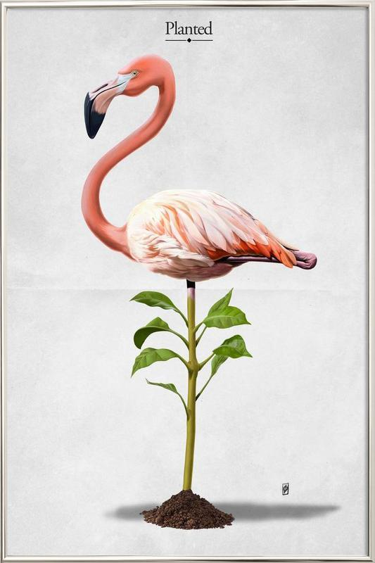 Planted (titled) poster in aluminium lijst