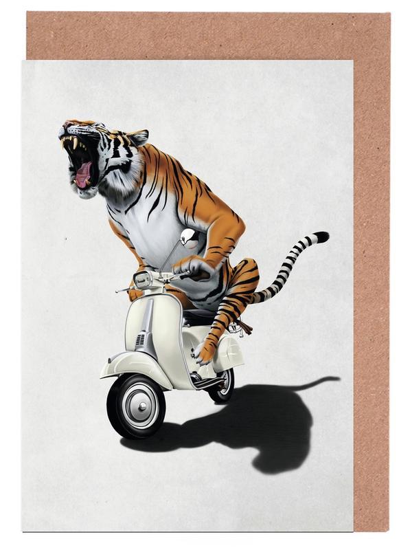 Kinderzimmer & Kunst für Kinder, Tiger, Rooooaaar! -Grußkarten-Set