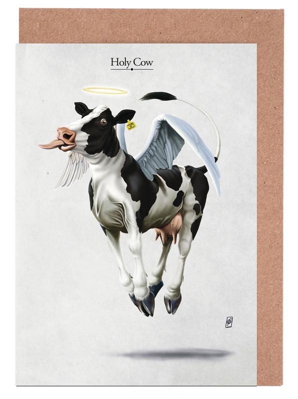 Kühe, Holy Cow -Grußkarten-Set
