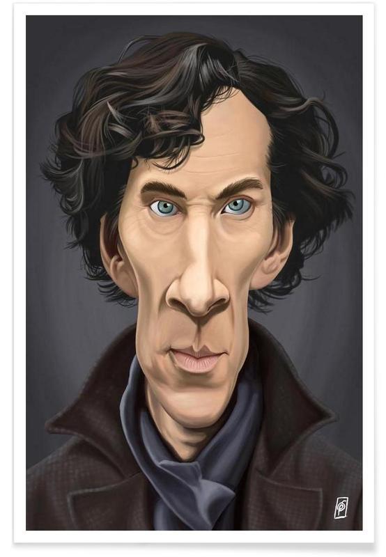 Tv-series, Benedict Cumberbatch - karikatuur poster