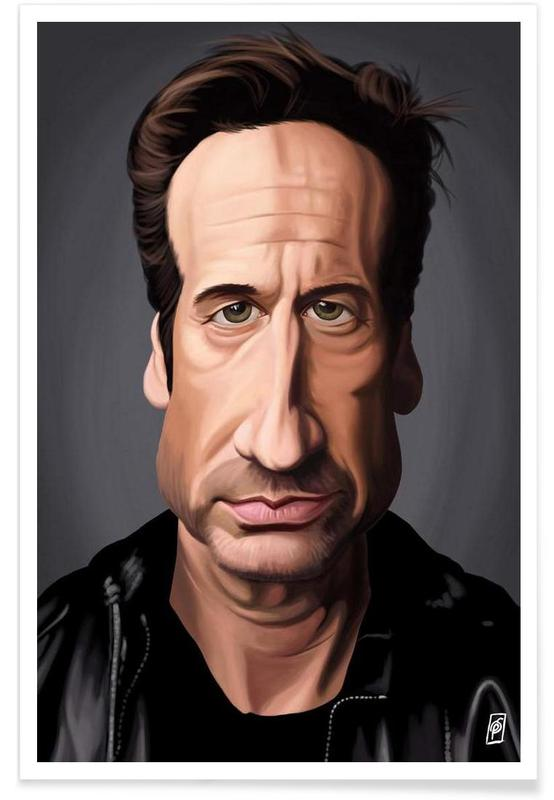 , David Duchovny Caricature Poster