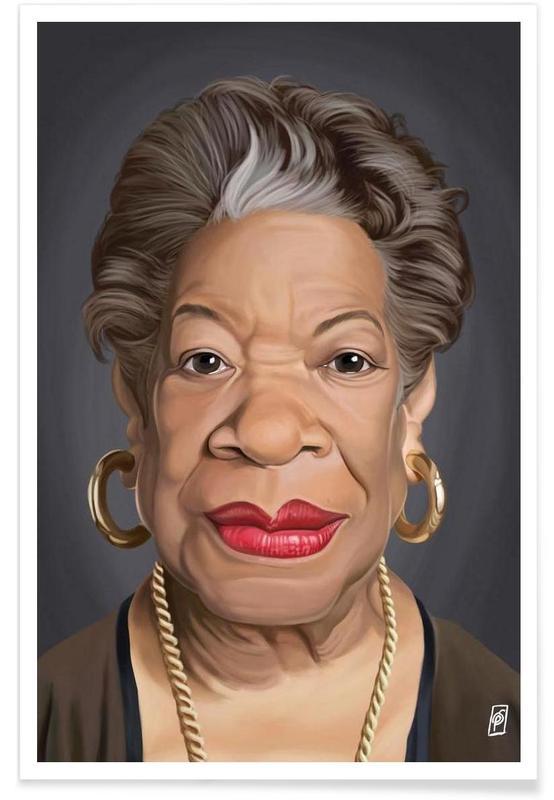 , Maya Angelou-Karikatur Poster
