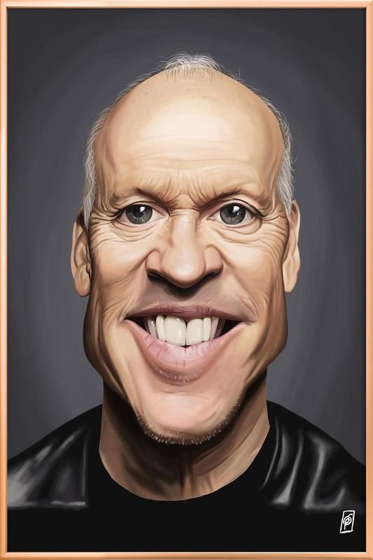 Michael Keaton Poster in Aluminium Frame