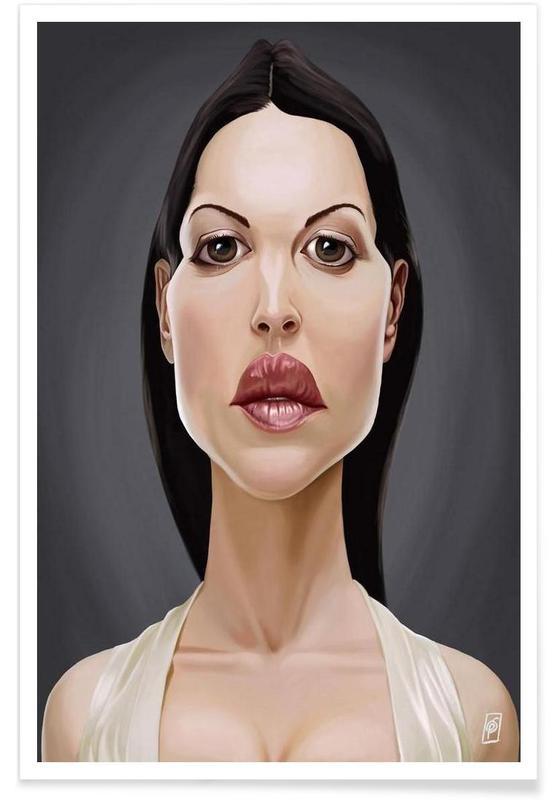 , Monica Belluci-Karikatur -Poster