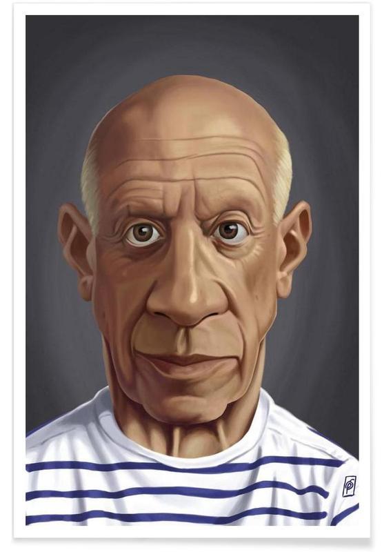 , Pablo Picasso - Caricature affiche