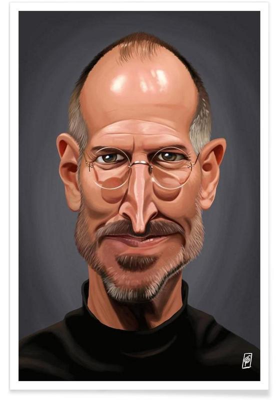 , Steve Jobs Caricature Poster