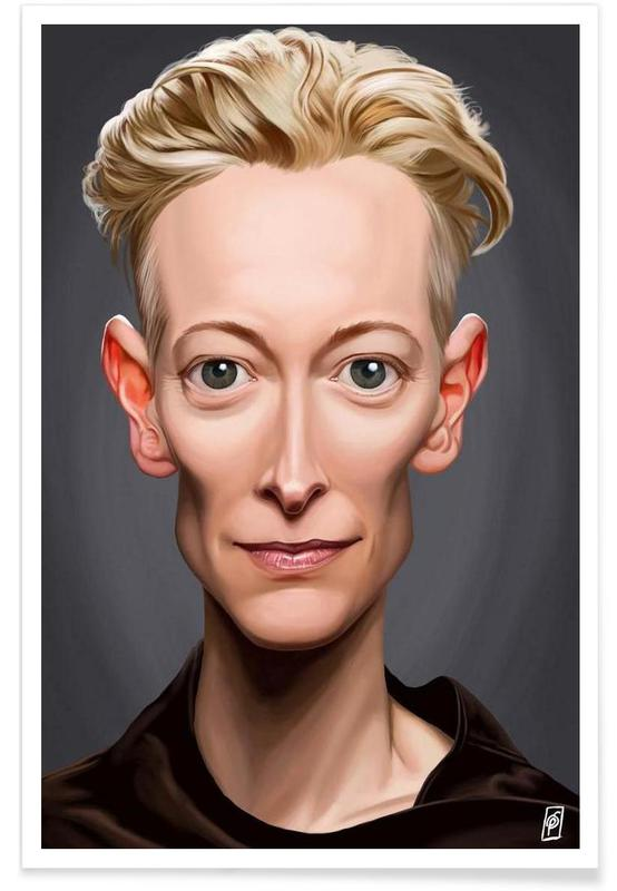, Tilda Swinton Caricature Poster