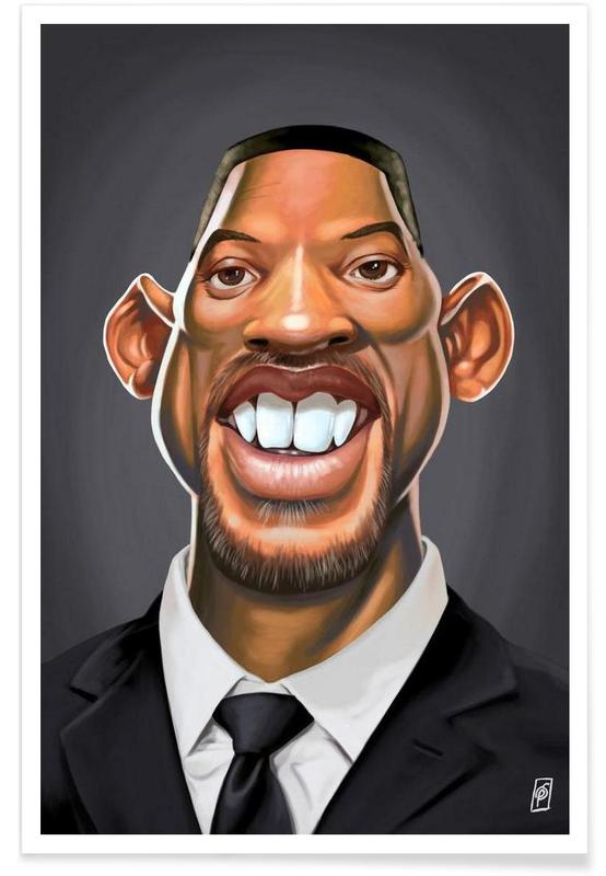 Will Smith Caricature Poster