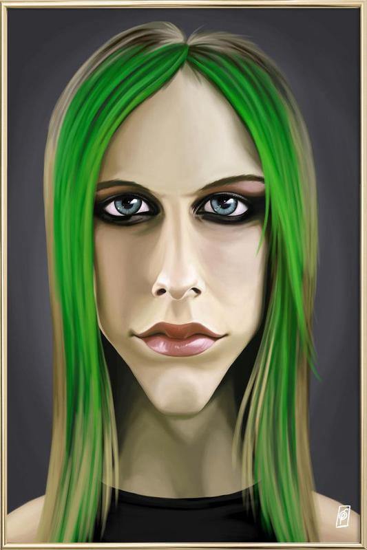 Avril Lavigne Poster in Aluminium Frame