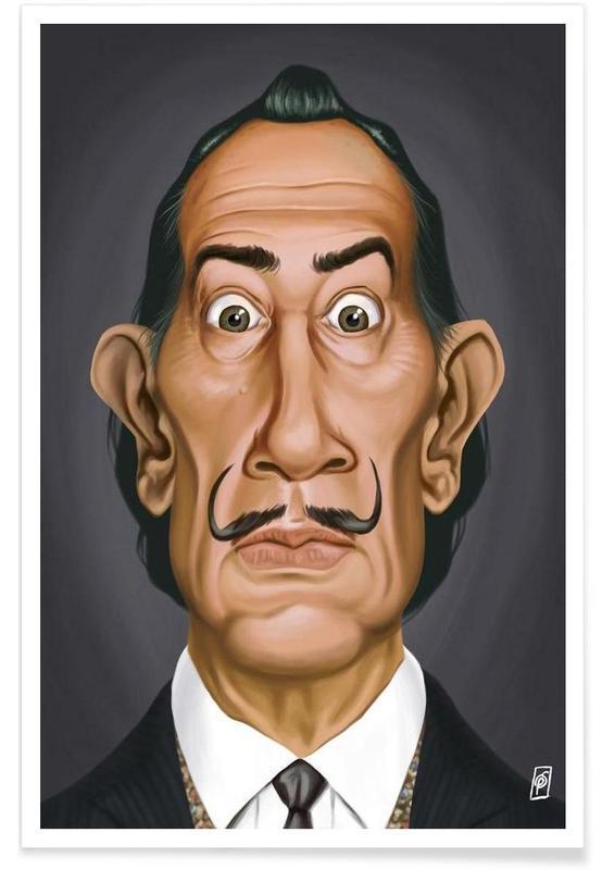Salvador Dali, Salvador Dali - karikatuur poster