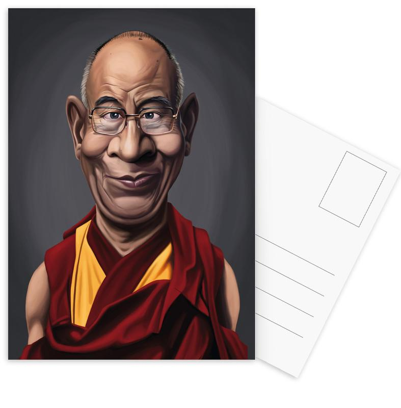 Personnages politiques, Dalai Lama cartes postales