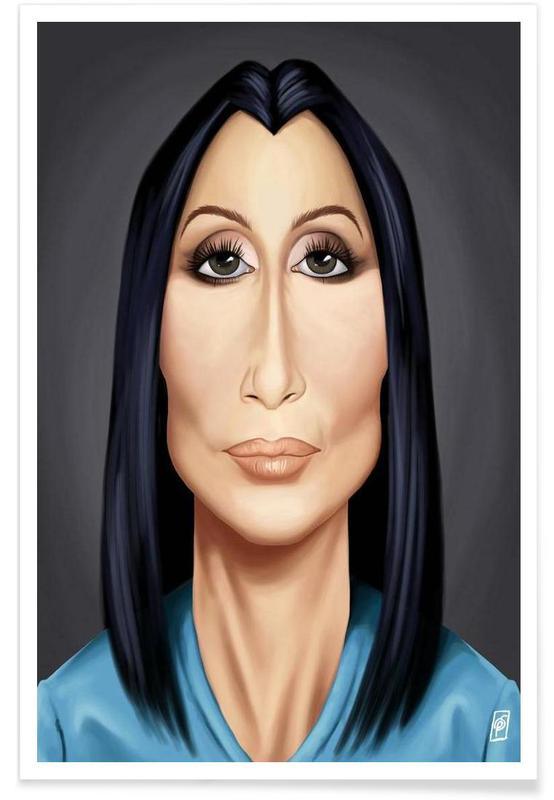 , Cher Caricature Poster