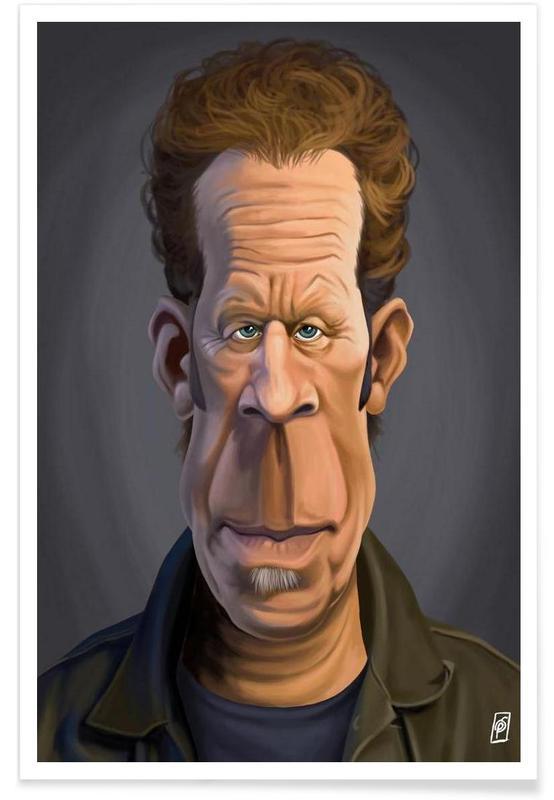 , Tom Waits - karikatuur poster