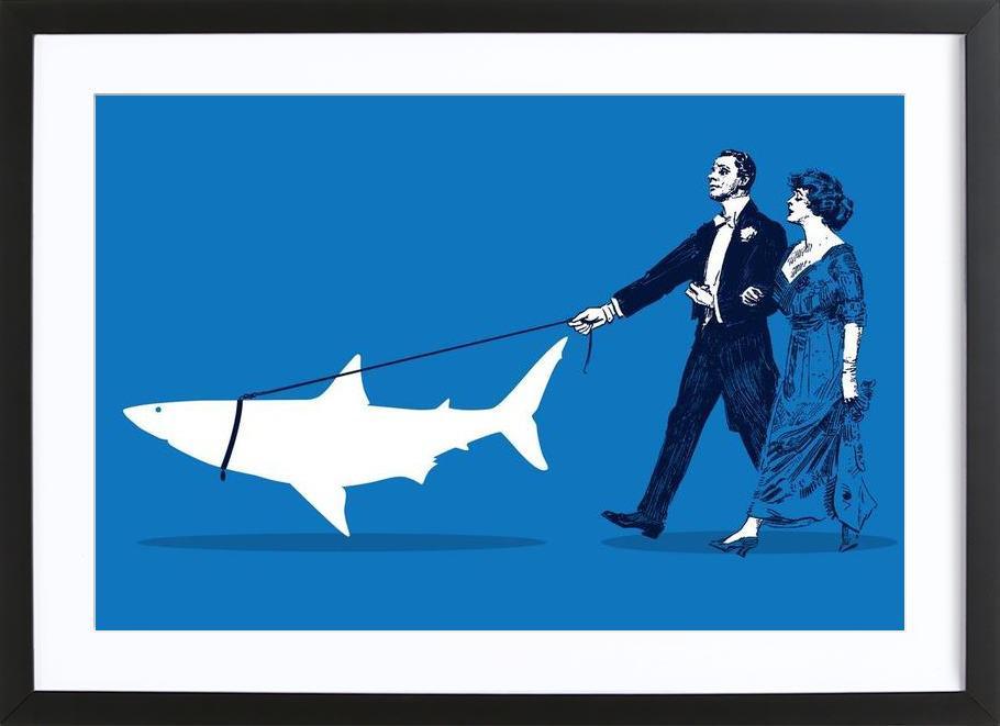 Walking The Shark Framed Print
