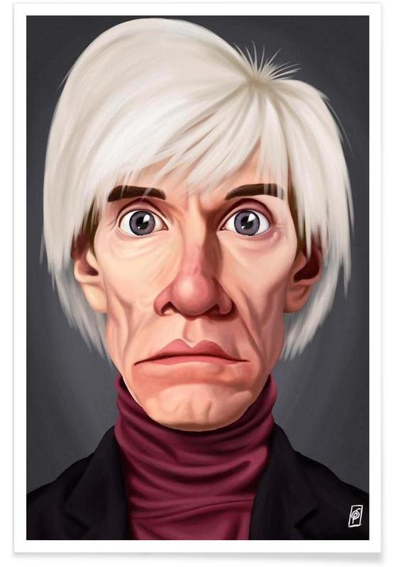 Andy Warhol Caricature Poster