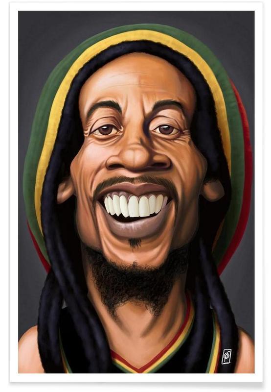 Bob Marley - Caricature affiche
