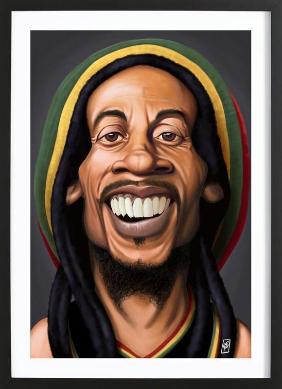 Bob Marley ingelijste print