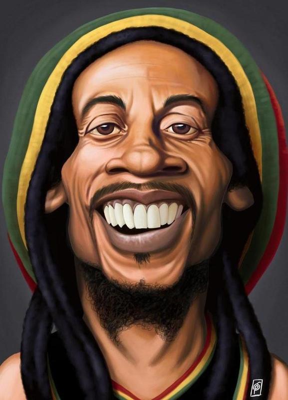 Bob Marley canvas doek