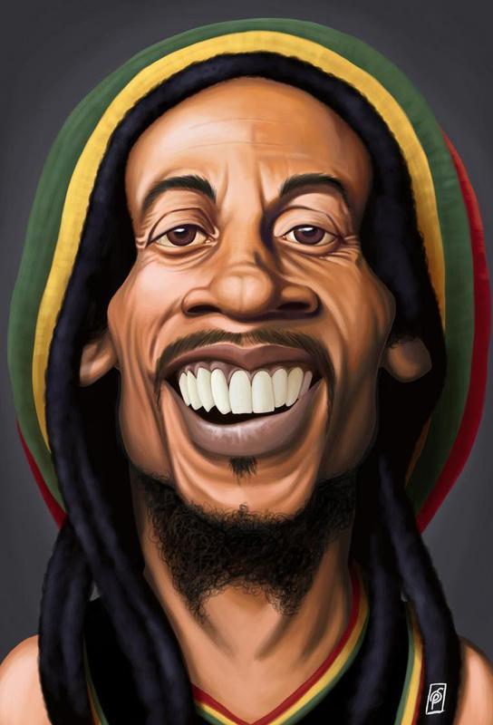 Bob Marley acrylglas print