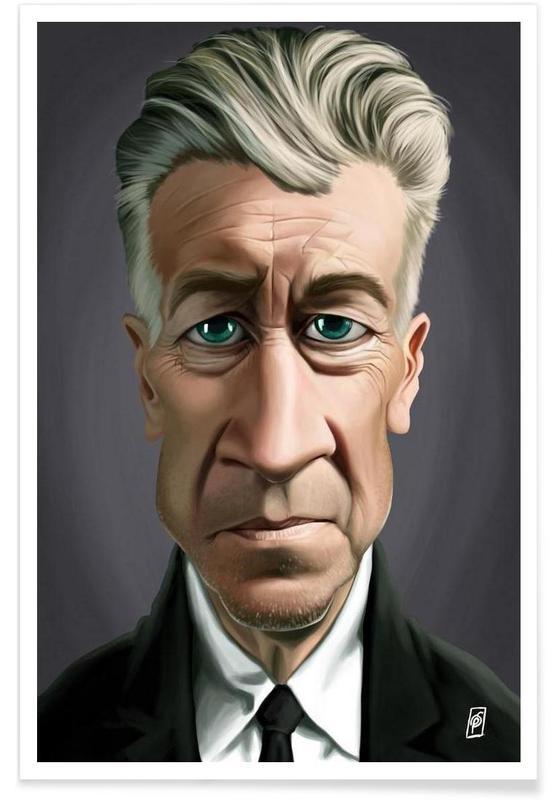 , David Lynch Caricature Poster