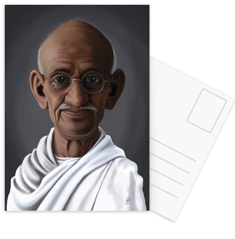 Personnages politiques, Mahatma Gandhi cartes postales