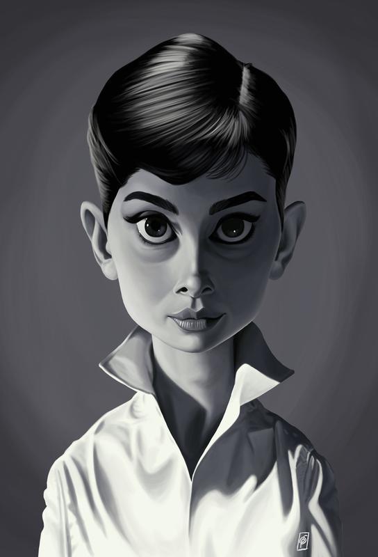 Audrey Hepburn Aluminium Print