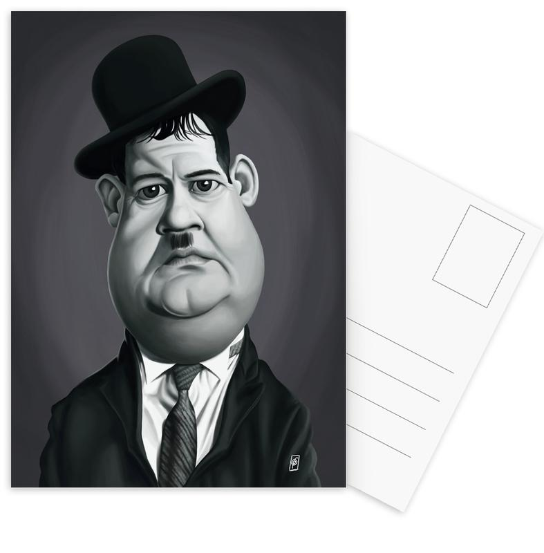 Oliver Hardy Postcard Set