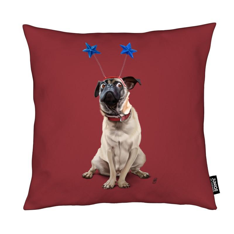 Chiens, A Pug's Life! coussin