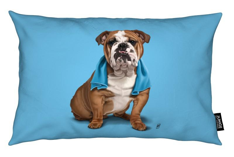 Chiens, Bull (Colour) coussin