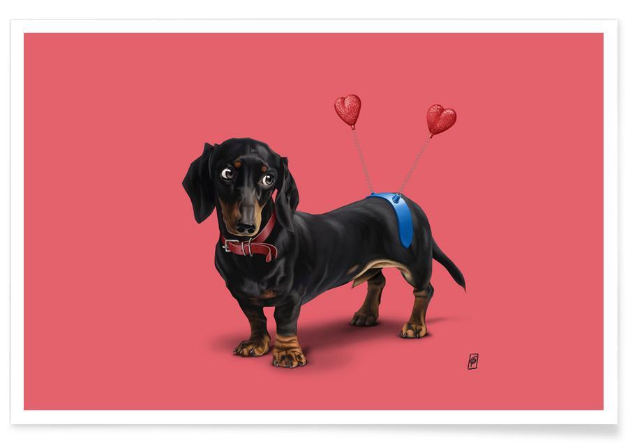 Hunde, Kinderzimmer & Kunst für Kinder, Butt (Colour) -Poster