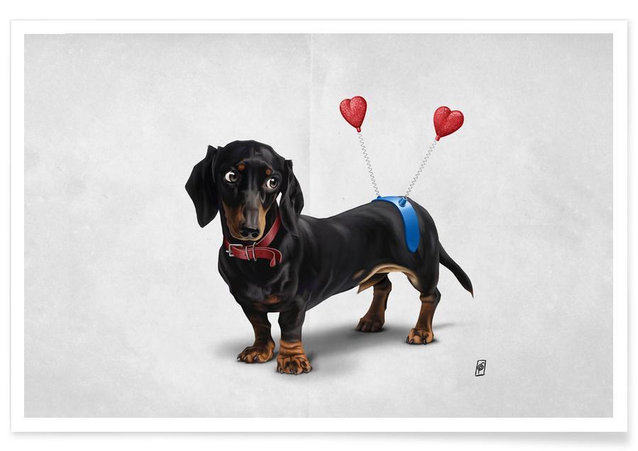 Dogs, Nursery & Art for Kids, Butt (Wordless) Poster