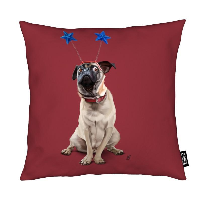 Chiens, A Pug's Life! (Colour) coussin