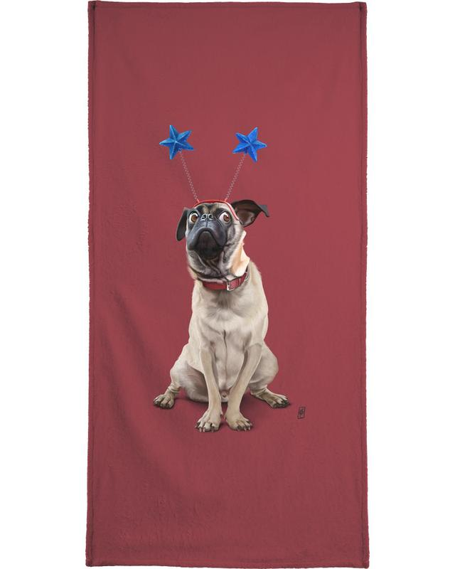 Chiens, A Pug's Life! (Colour) serviette de bain