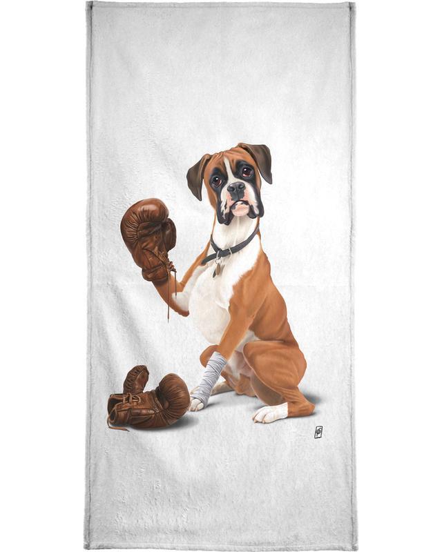 Dogs, The Boxer Bath Towel