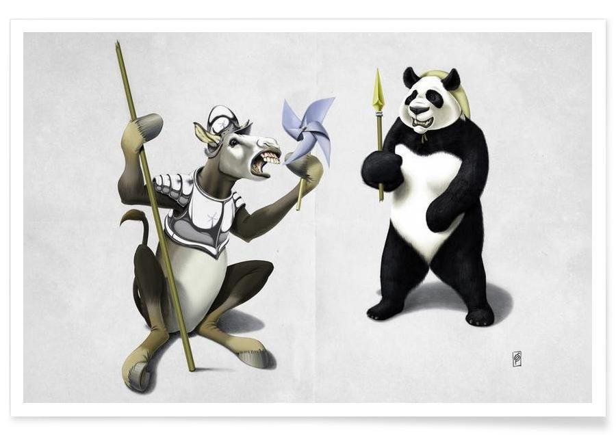 , Donkey Xote and Sancho Panda affiche