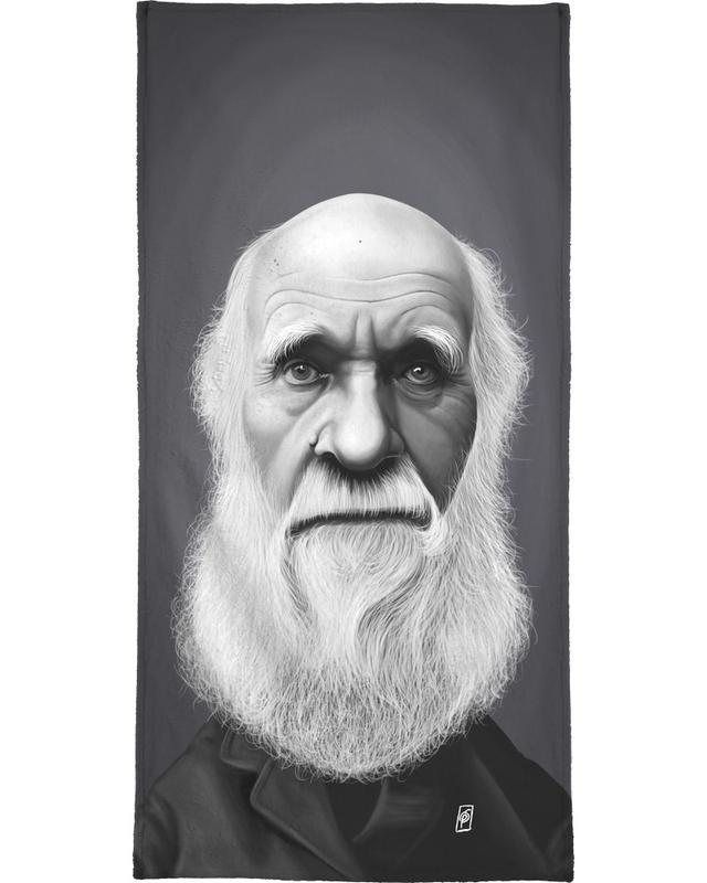 Charles Darwin Bath Towel