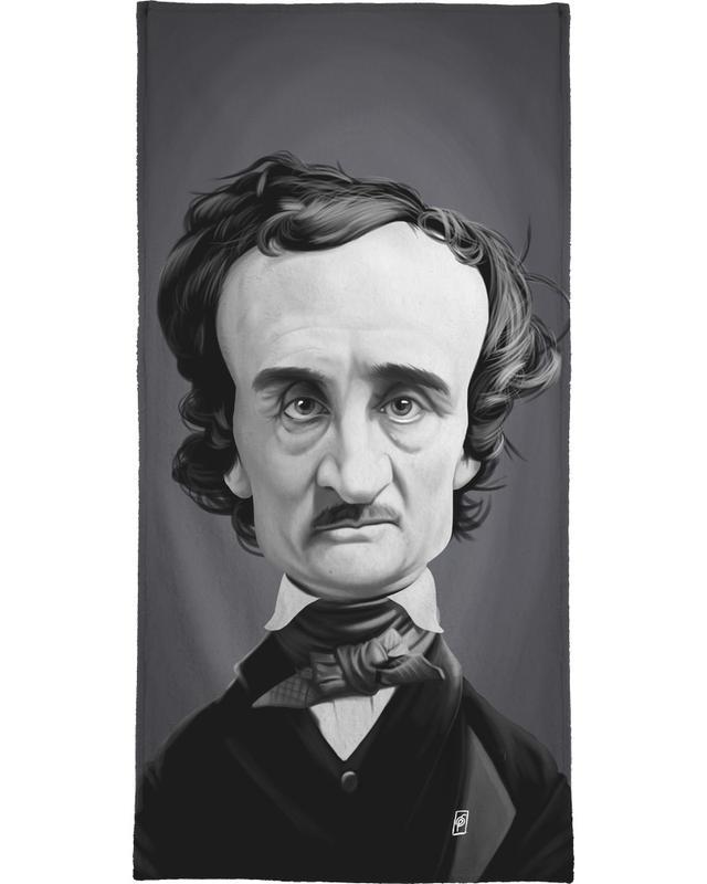 Edgar Allan Poe Bath Towel