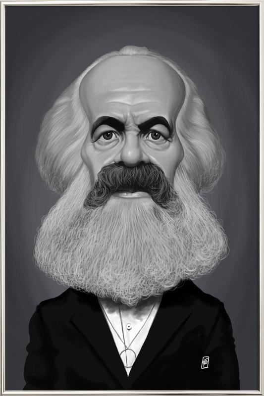 Karl Marx Poster in Aluminium Frame