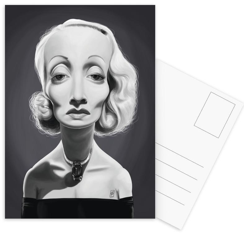 Zwart en wit, Marlene Dietrich ansichtkaartenset