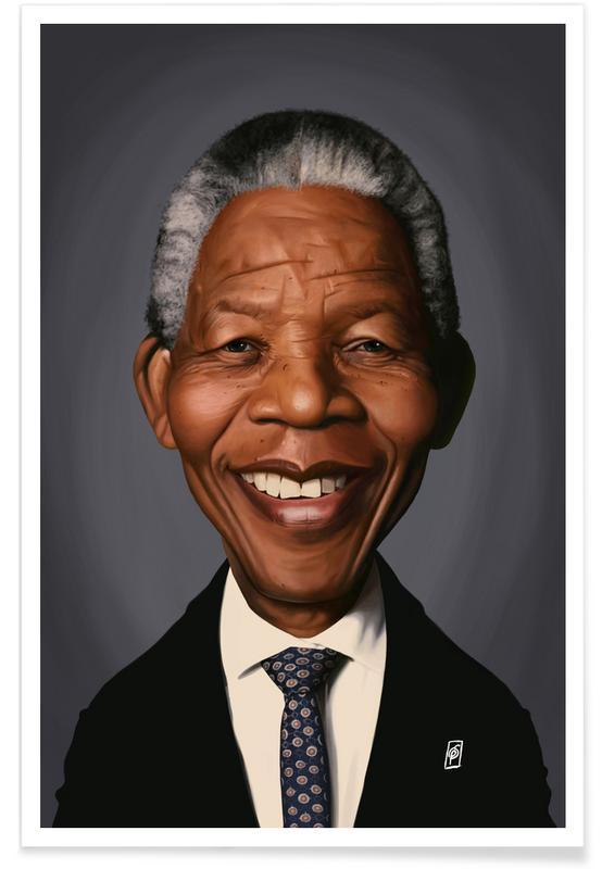Political Figures, Nelson Mandela Caricature Poster