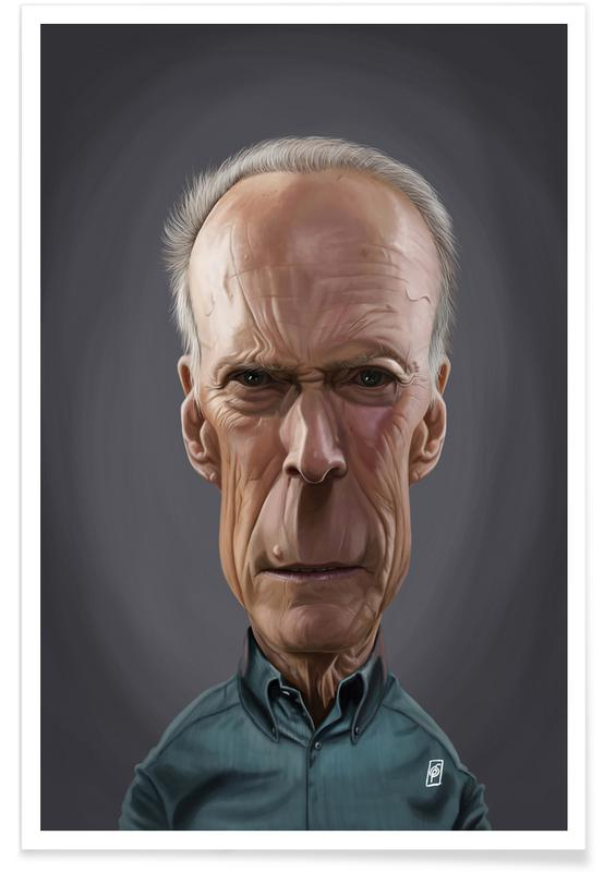 , Clint Eastwood - karikatuur poster