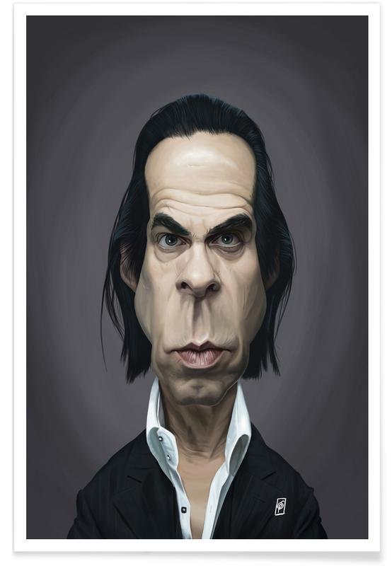 , Nick Cave Caricature Poster