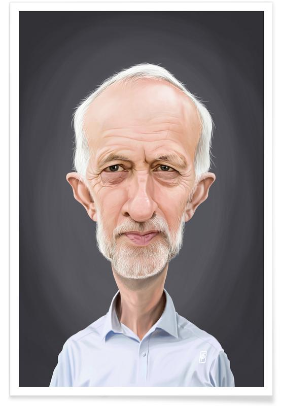 Political Figures, Jeremy Corbyn Caricature Poster
