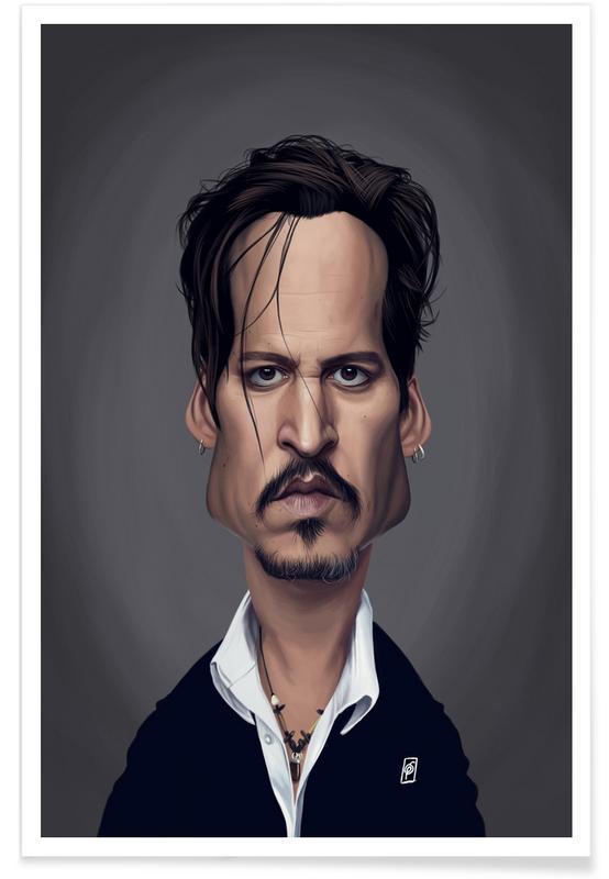 Johnny Depp Caricature Poster