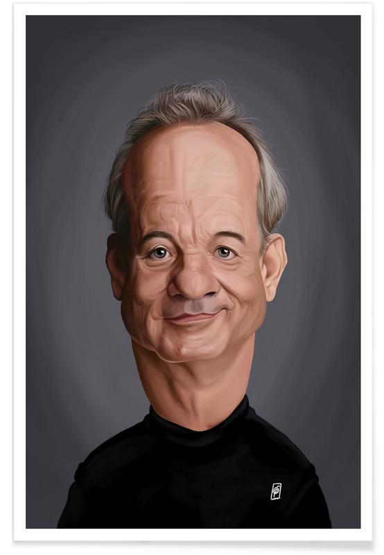 , Bill Murray - karikatuur poster