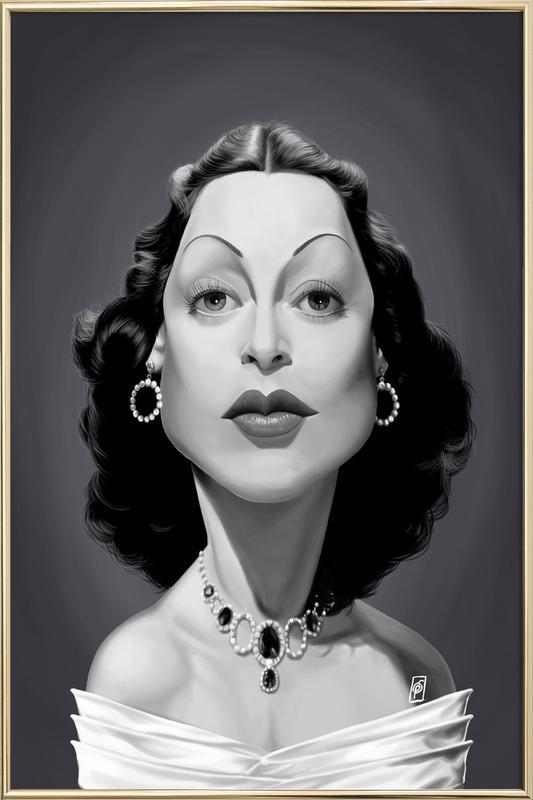 Hedy Lamarr Poster in Aluminium Frame