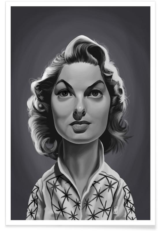 Schwarz & Weiß, Ingrid Bergman-Karikatur -Poster
